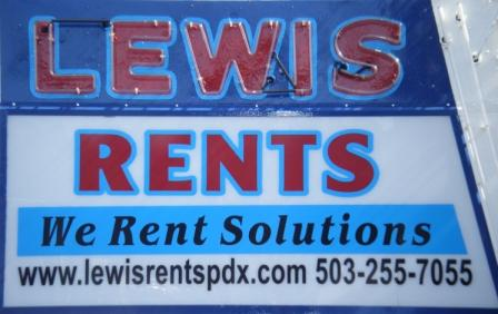 Lewis Rents Portland Oregon - Need it? Rent it!